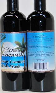 body wash, liquid soap, coconut