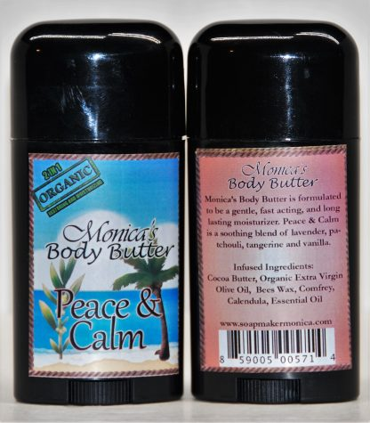 Peace and Calm, body butter, lotion stick, solid lotion, moisturizer