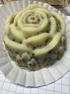Beautiful Lavender scented rose shaped soap.